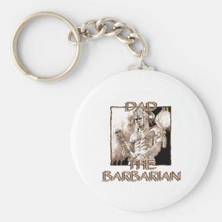 Dad the Barbarian Keychain