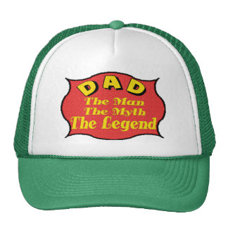 Dad The Legend Fathers Day Gifts Mesh Hats