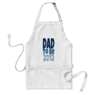 Dad to be 2012 - white footprints adult apron