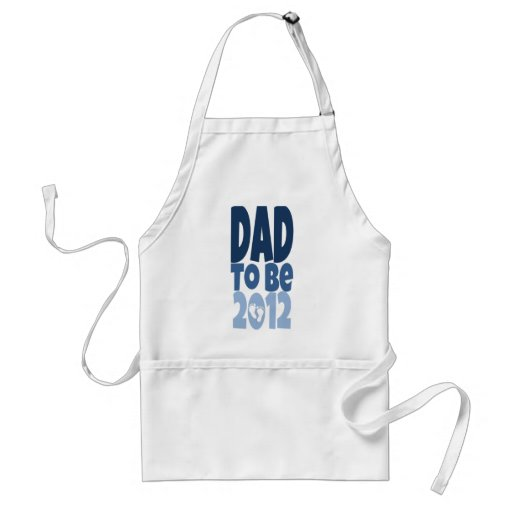 Dad to be 2012 - white footprints apron