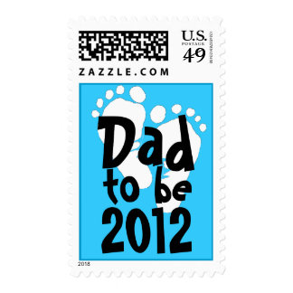 Dad to be 2012 - white footprints postage