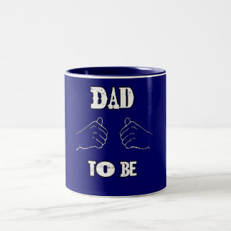 Dad to Be Expectant Father Day  having baby Two-Tone Coffee Mug