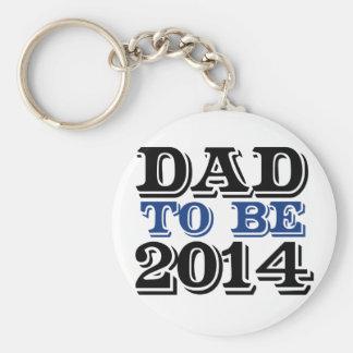 Dad to be in 2014 basic round button keychain