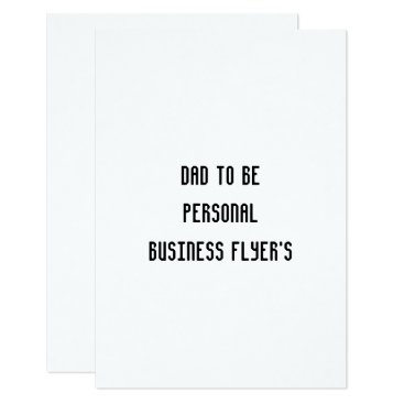 Professional Business dad to be personal business flyer rsvp flat card