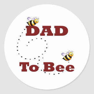 Dad to Be Round Stickers