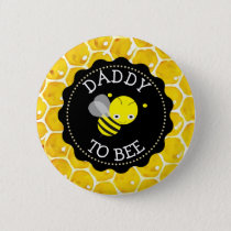 Dad to Bee Baby Shower Button