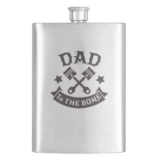 Dad to the bone motor dad tshirt flask