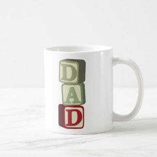 Dad Toy Blocks Classic White Coffee Mug