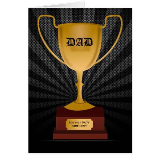 Dad Trophy Award, Father's Day Card