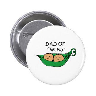 Dad Twin Pod 2 Inch Round Button