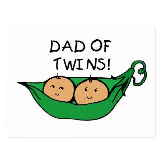 Dad Twin Pod Postcard