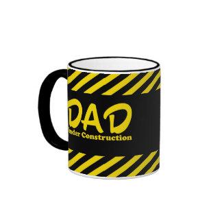 Dad Under Construction Ringer Coffee Mug