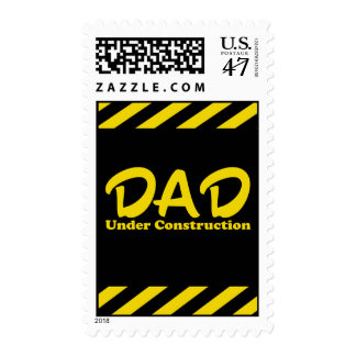 Dad Under Construction Postage