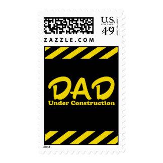 Dad Under Construction Postage Stamps