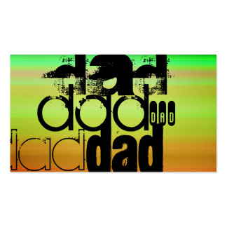 Dad; Vibrant Green, Orange, & Yellow Double-Sided Standard Business Cards (Pack Of 100)