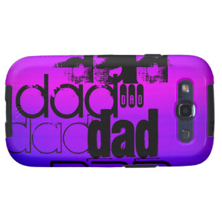Dad; Vibrant Violet Blue and Magenta Galaxy SIII Covers