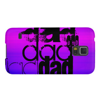 Dad; Vibrant Violet Blue and Magenta Galaxy S5 Covers