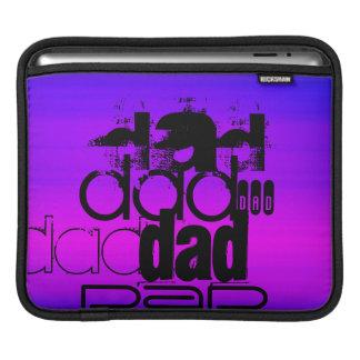 Dad; Vibrant Violet Blue and Magenta iPad Sleeve