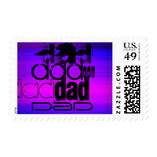 Dad; Vibrant Violet Blue and Magenta Postage