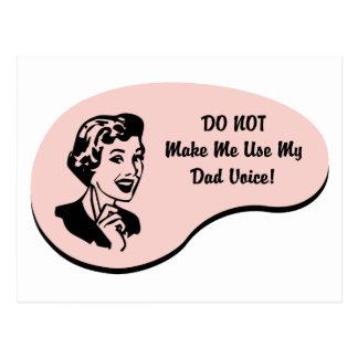 Dad Voice Postcard
