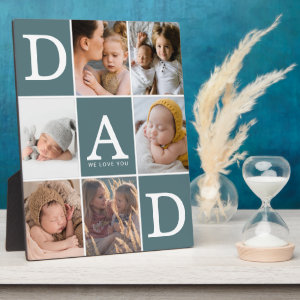 Dad We Love You Photo Collage Plaque