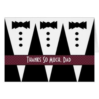 DAD Wedding Thank You - Three Tuxedos Greeting Card