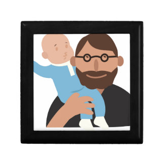 Dad With Baby Jewelry Box