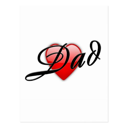 Dad with Heart Postcard