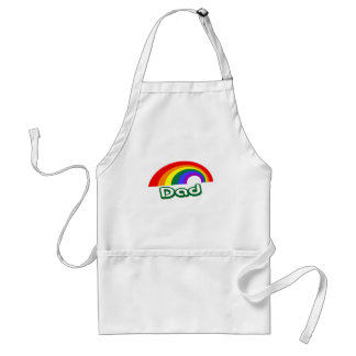 """Dad"" with rainbow Adult Apron"