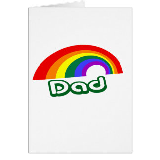 """Dad"" with rainbow Card"
