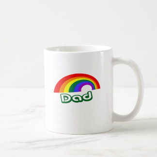 """Dad"" with rainbow Mug"