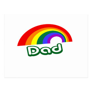 """Dad"" with rainbow Postcard"