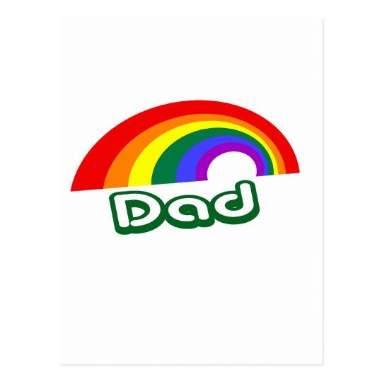 """Dad"" with rainbow Postcard"