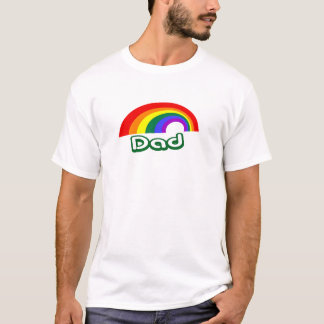 """""""Dad"""" with rainbow T-Shirt"""