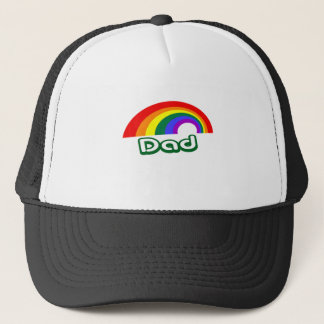 """""""Dad"""" with rainbow Trucker Hat"""