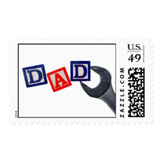 Dad with Wrench Postage