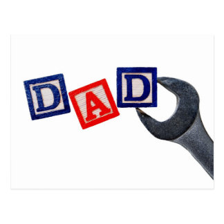Dad with Wrench Post Card