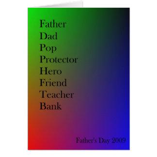 Dad word-association card