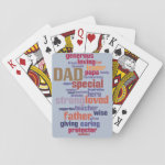 Dad Word Cloud Text Father's Day Typography Card Decks