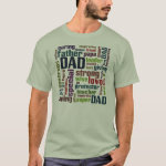 Dad Word Cloud Text Father's Day Typography T-Shirt