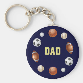 Dad World of Sports Keychain - Navy Blue 2