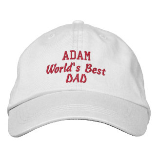 DAD World's Best Dad Custom Name Father's Day Baseball Cap