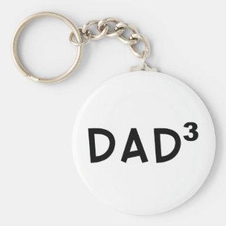 Dad x 3 keychain