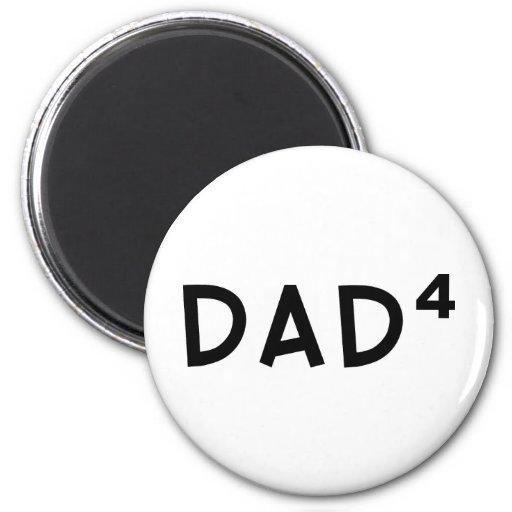 Dad x 4 2 inch round magnet
