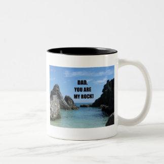 Dad, You are my rock! Two-Tone Coffee Mug