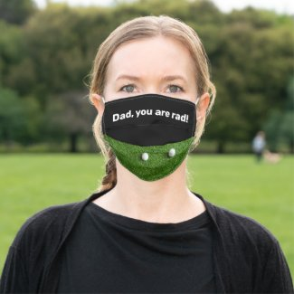 Dad, you are rad! golf face mask for golfer