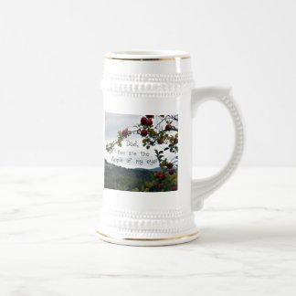Dad, you are the Apple of my eye! Beer Stein