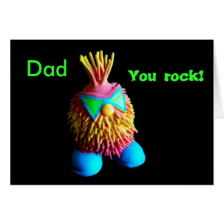 Dad, You rock! Card