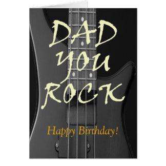 Dad You Rock Custom Happy Birthday Greeting Card