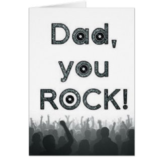 Dad, You Rock! Father's Day Card